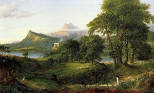 Thomas Cole - The Course of Empire The Arcadian or Pastoral State 1836