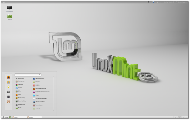 Linux Mint 12 Lisa - (2012) Source: Wikimedia
